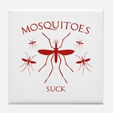 Mosquitoes Suck Tile Coaster