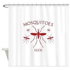 Mosquitoes Suck Shower Curtain