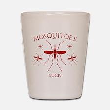 Mosquitoes Suck Shot Glass