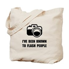 Camera Flash People Tote Bag