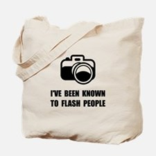 Camera Flash People Tote Bag