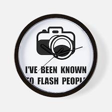 Camera Flash People Wall Clock