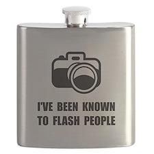 Camera Flash People Flask