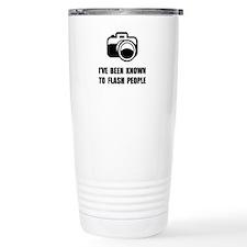 Camera Flash People Travel Mug
