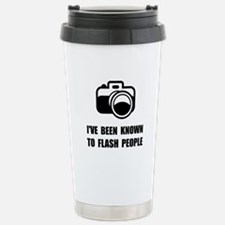 Camera Flash People Travel Mug