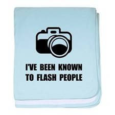 Camera Flash People baby blanket