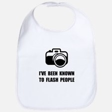 Camera Flash People Bib