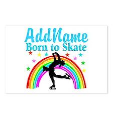 GRACEFUL SKATER Postcards (Package of 8)