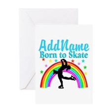 GRACEFUL SKATER Greeting Card