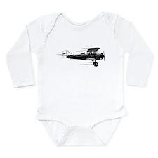 Cute Airplane for kids Long Sleeve Infant Bodysuit