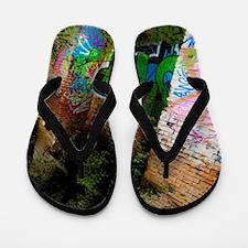 Graffiti Forest Flip Flops