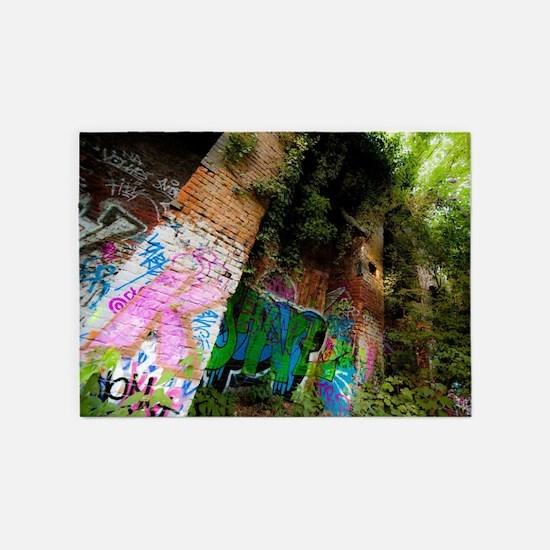 Graffiti Forest 5'x7'Area Rug