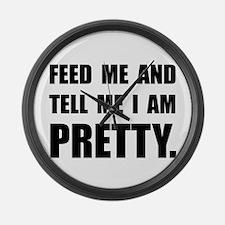 Feed Tell I Am Pretty Large Wall Clock