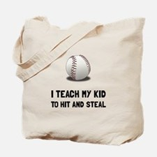 Hit And Steal Baseball Tote Bag