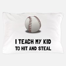 Hit And Steal Baseball Pillow Case