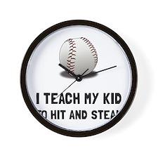Hit And Steal Baseball Wall Clock