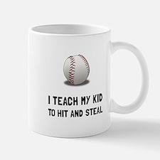 Hit And Steal Baseball Mugs