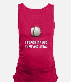 Hit And Steal Baseball Maternity Tank Top