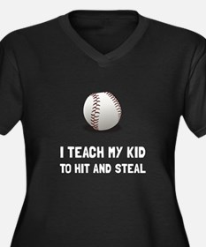 Hit And Steal Baseball Plus Size T-Shirt