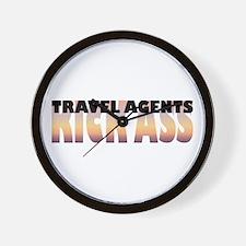 Travel Agents Kick Ass Wall Clock