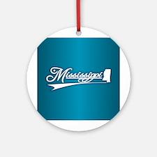Mississippi State of Mine Ornament (Round)
