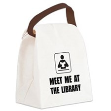 Meet Me At Library Canvas Lunch Bag