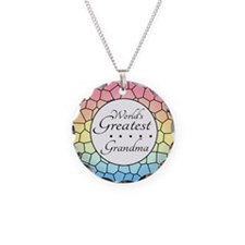 Grandma (Stained Glass) Necklace Circle Charm