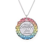 Great Grandma (Stained Glass Necklace Circle Charm