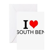 I Love South Bend Greeting Cards