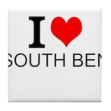 I Love South Bend Tile Coaster