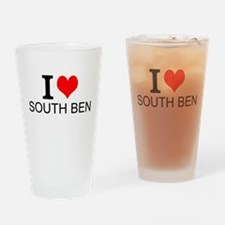 I Love South Bend Drinking Glass