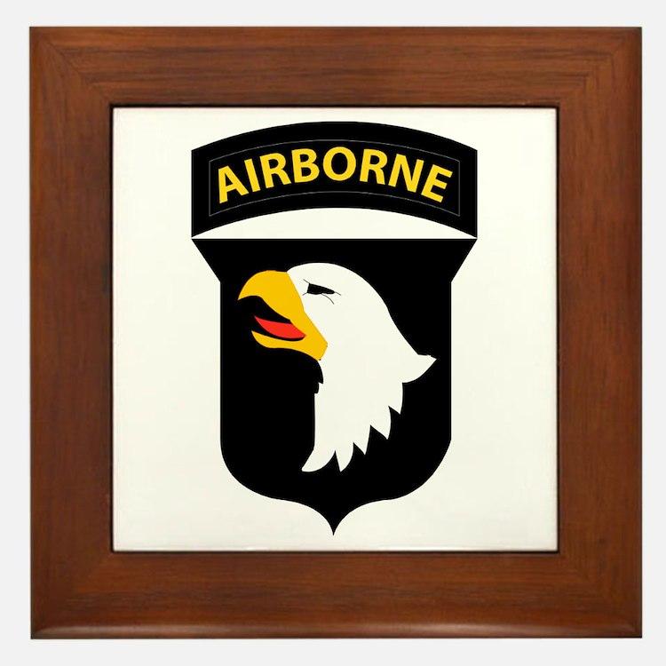 101st Airborne Division Framed Tile