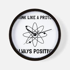 Proton Always Positive Wall Clock