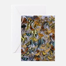 BUTTERFLY ILLUSION PANEL Greeting Cards