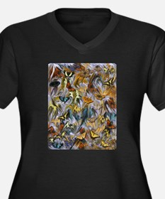 BUTTERFLY ILLUSION PANEL Plus Size T-Shirt