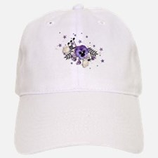 Purple Pansy And Purple Stars with A Music Note Ba
