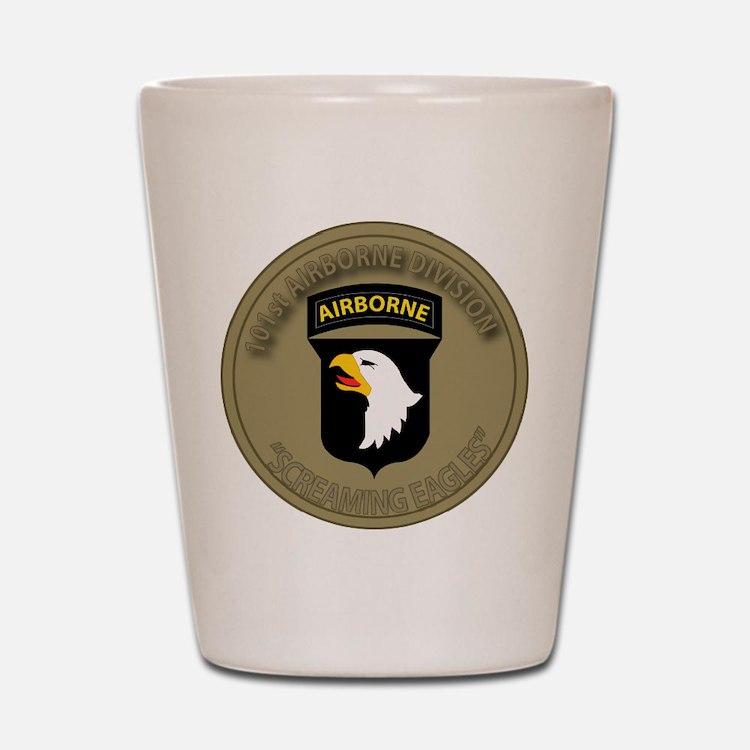 101st airborne screaming eagles Shot Glass