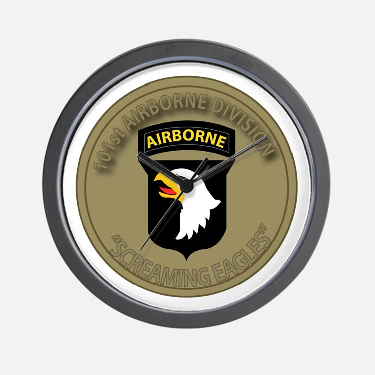 101st Airborne Screaming Eagles Wall Clock