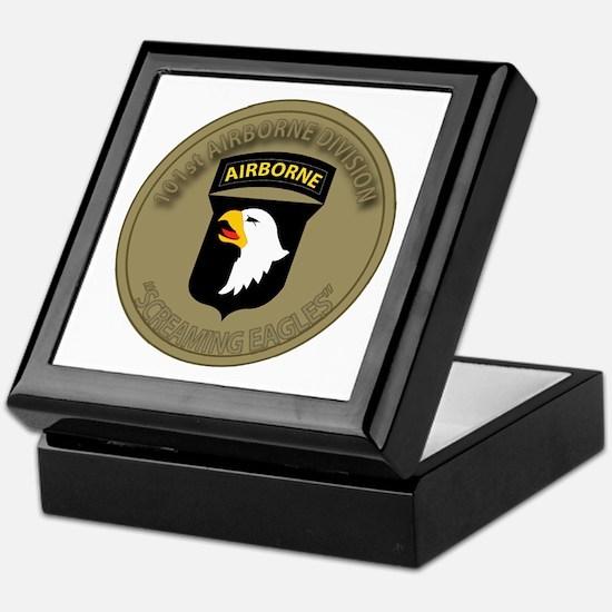 101st Airborne Screaming Eagles Keepsake Box