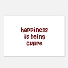 happiness is being Claire Postcards (Package of 8)