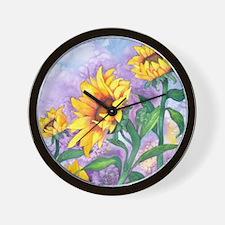 Sunny Sunflowers Wall Clock