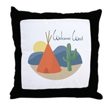 Welcome West Throw Pillow