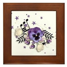 Purple Pansy And Purple Stars with A Music Note Fr