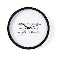 Organized People Wall Clock