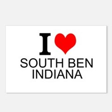 I Love South Bend Indiana Postcards (Package of 8)