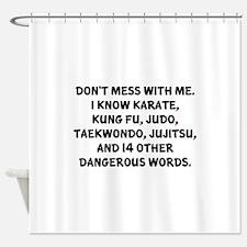 Taekwondo Sayings Shower Curtains Taekwondo Sayings Fabric