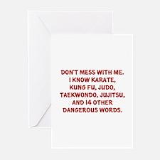 Dangerous Words Greeting Cards (Pk of 10)