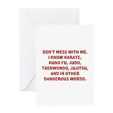 Dangerous Words Greeting Card