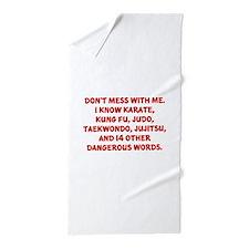 Dangerous Words Beach Towel