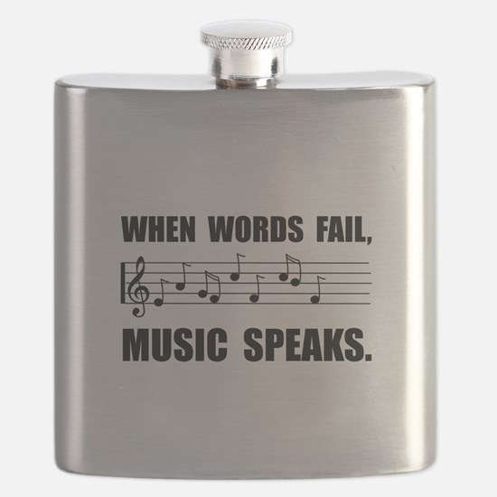 Words Fail Music Speaks Flask